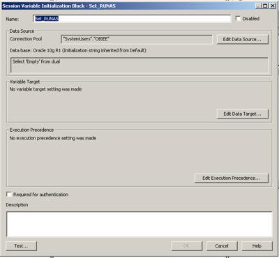 Act as: runAs init Block Workaround