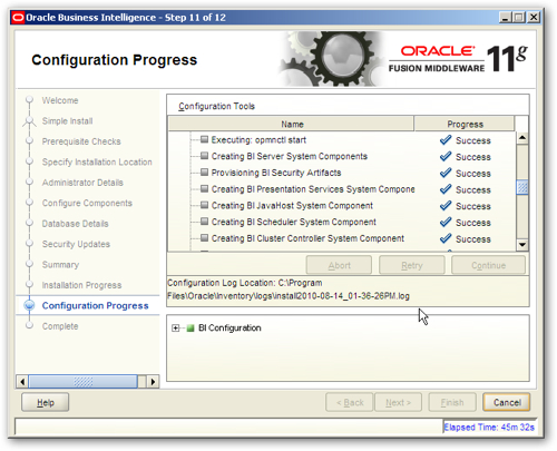 OBIEE 11gR1 : Installation and Initial Configuration
