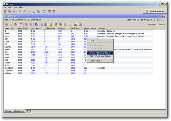 EDQ Data Profiling
