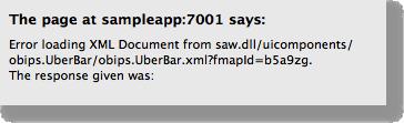 Error loading XML Document from /analytics/saw.dll/uicomponents/obips.UberBar/obips.UberBar.xml?fmapId=b5a9zg. The response given was: