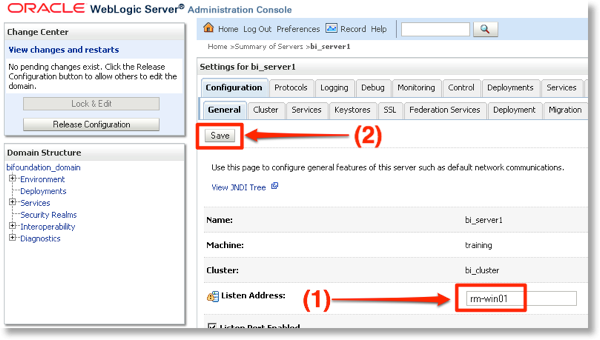 OBIEE / FMW and networking on DHCP hosts