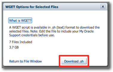 Downloading OBIEE patches from Oracle with wget