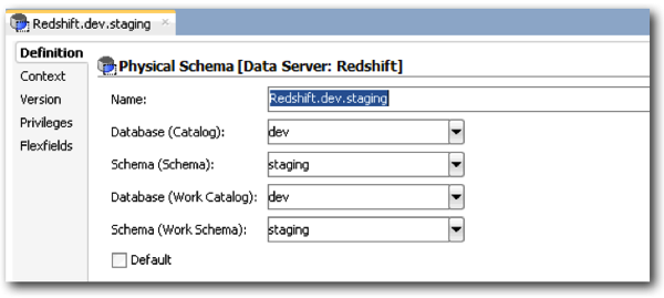 Building an Amazon Redshift Data Warehouse using ODI and