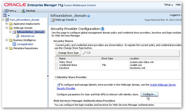 OBIEE 11g Security Week : Connecting to Active Directory, and