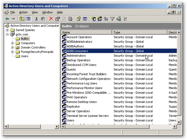 how to find security groups in active directory