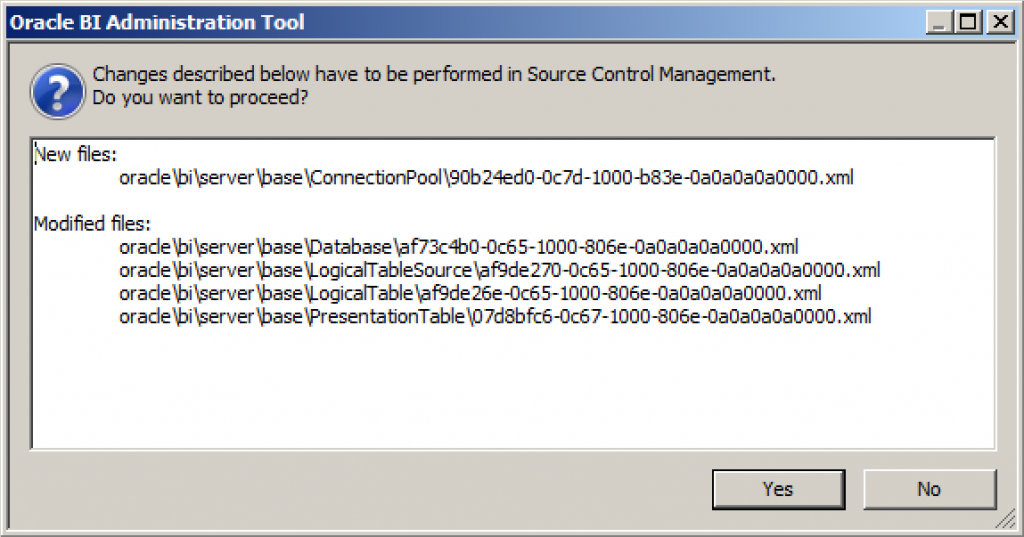 Source Control Save Message