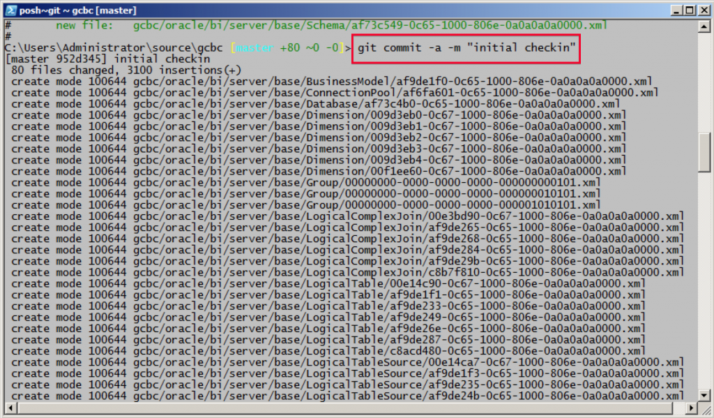 MDS XML Git Commit