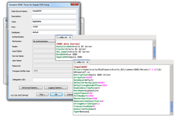 Connecting OBIEE 11 1 1 9 to Hive, HBase and Impala Tables for a DW