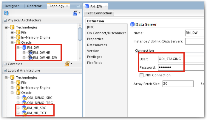 Data Integration Tips: ODI - One Data Server with several