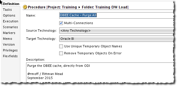 Managing the OBIEE BI Server Cache from ODI 12c