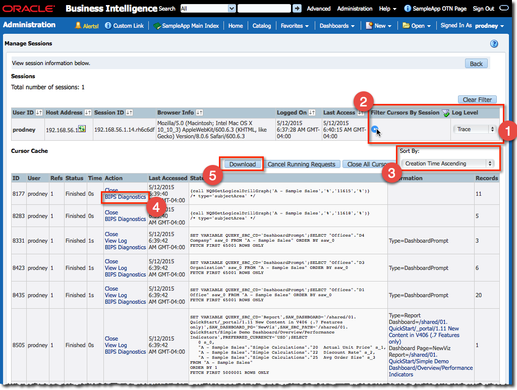 from the administration page in obiee the new options are obiee administration