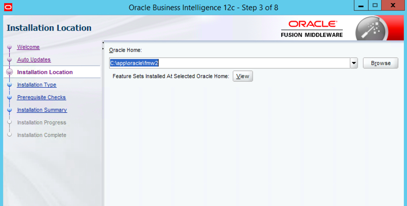 Enter Existing Oracle Home