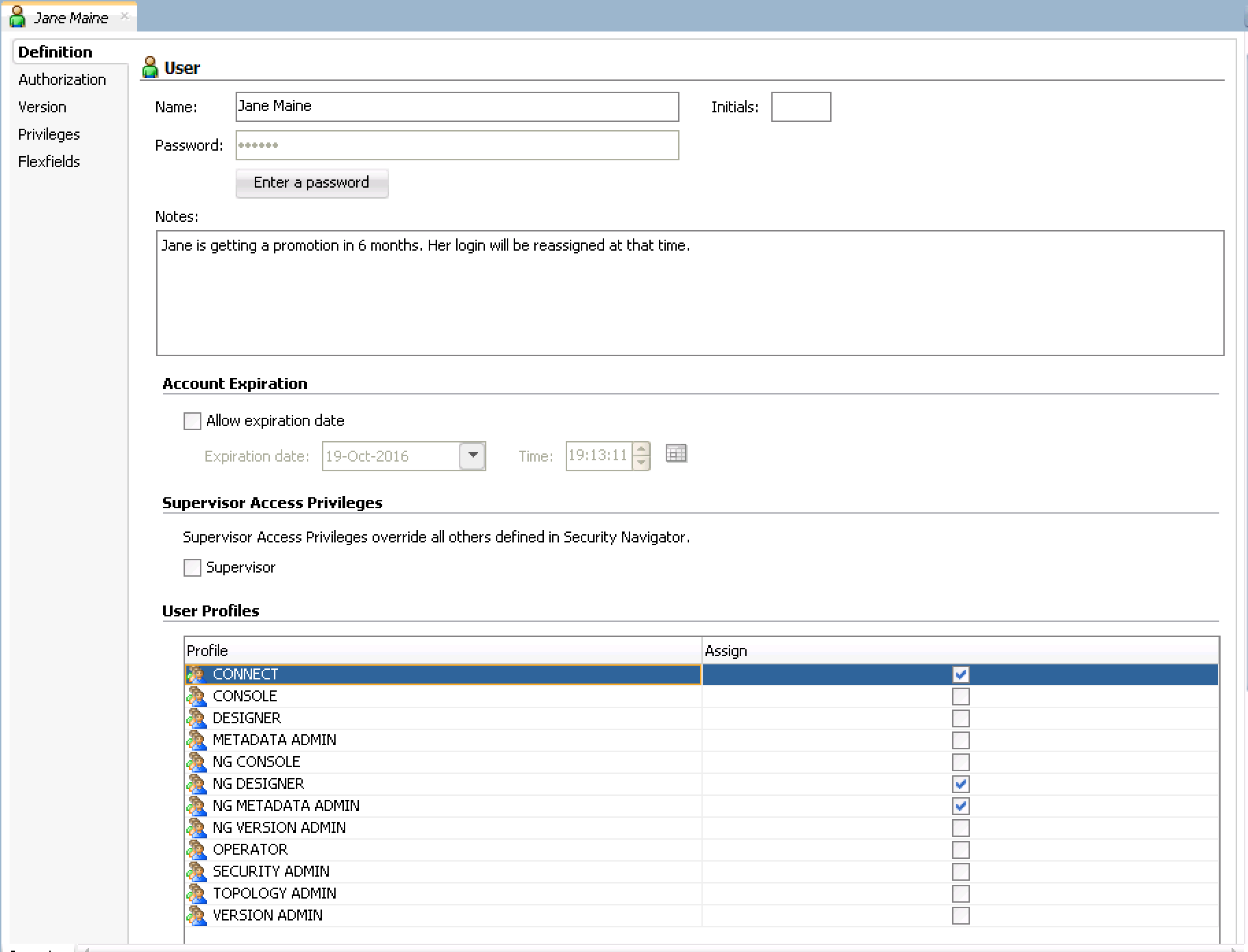 Creating Security Profiles in ODI 12c