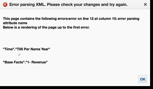 Error XML