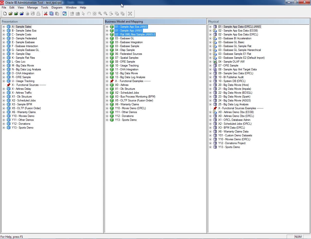 Merging OBIEE 12c  RPD binary files directly in Git