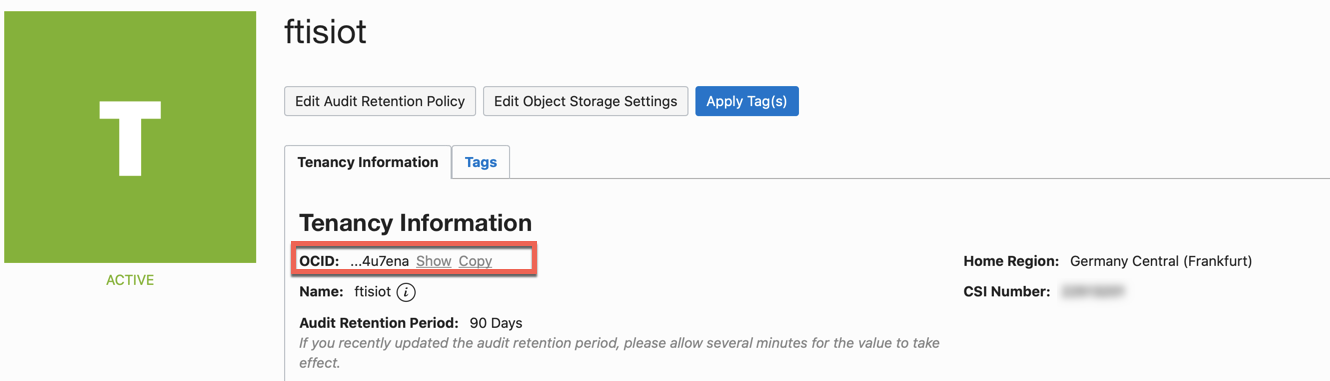Oracle Data Science - Accelerated Data Science SDK Configuration